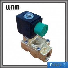 2 Way Indirect Acting Solenoid Valve - Brass