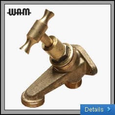 Brass Hose Cock Wall Mount