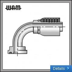 SAE Code 61 Flange - 90° Elbow