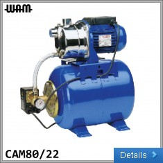 230V Self-Priming Jet Water Pump with 22L Pressure Tank