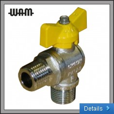 Gas M 90 deg Ball Valve T