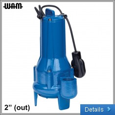 230V Single-Blade Impellor Submersible Drainage Pump