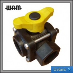 3 Way Side Load Poly Valve