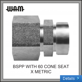 BSPP with 60 Deg Cone Seat x Metric