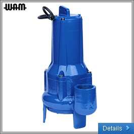 3hp (3ph) Submersible Pump with Cast Iron Single-Blade Impeller