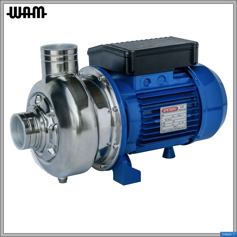 S/S Open Impellor Centrifugal Pump 4hp (3-phase)